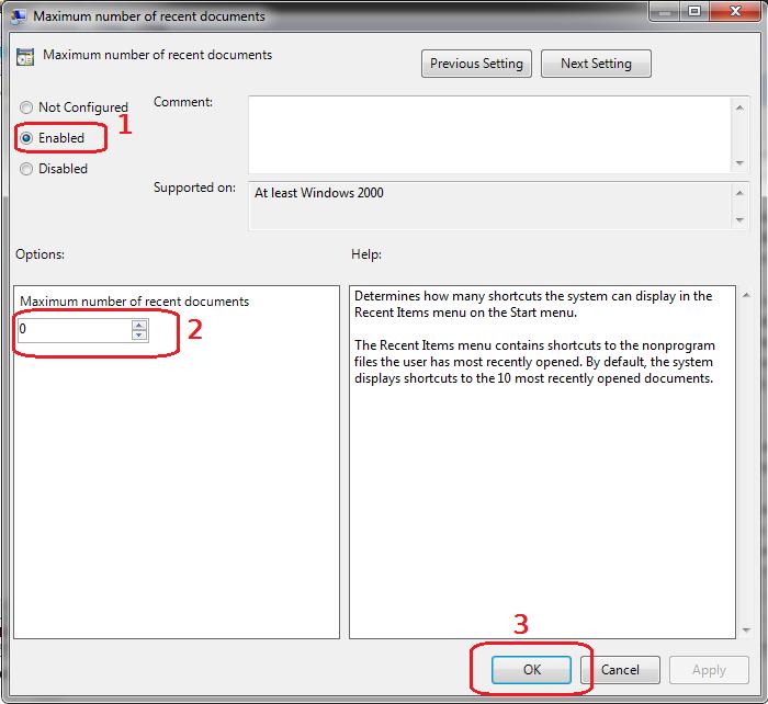 خاموش غیر فعال کردن فایل های اخیر ویندوز turn off recent files
