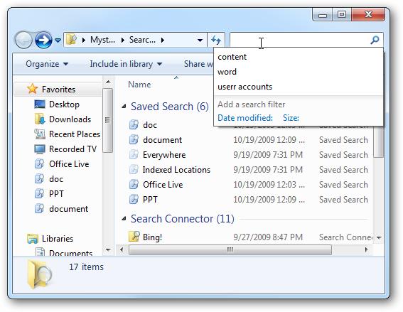 روشن خاموش تاریخچه جستجو ویندوز 7 سون