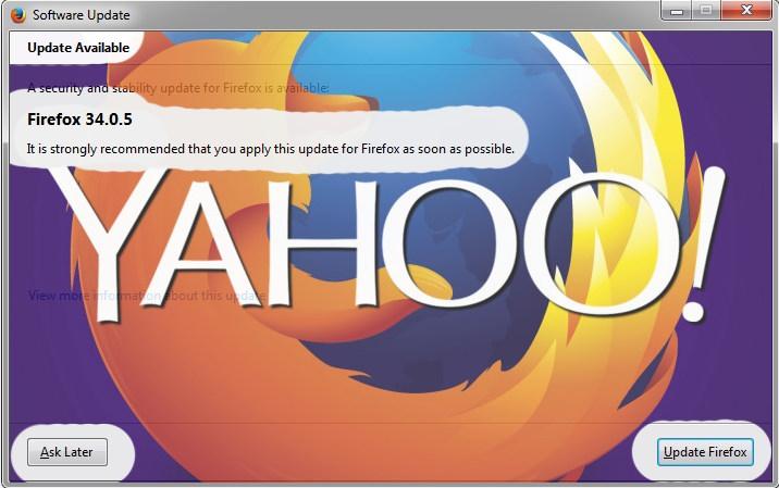 یاهو فایرفاکس 34.0.5