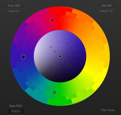 ابزار رنگ شناسی paletton طراحی گرافیک سایت