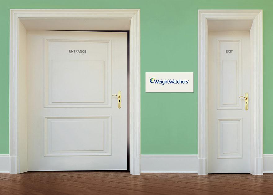 تبلیغات لاغری درب ورود خروج
