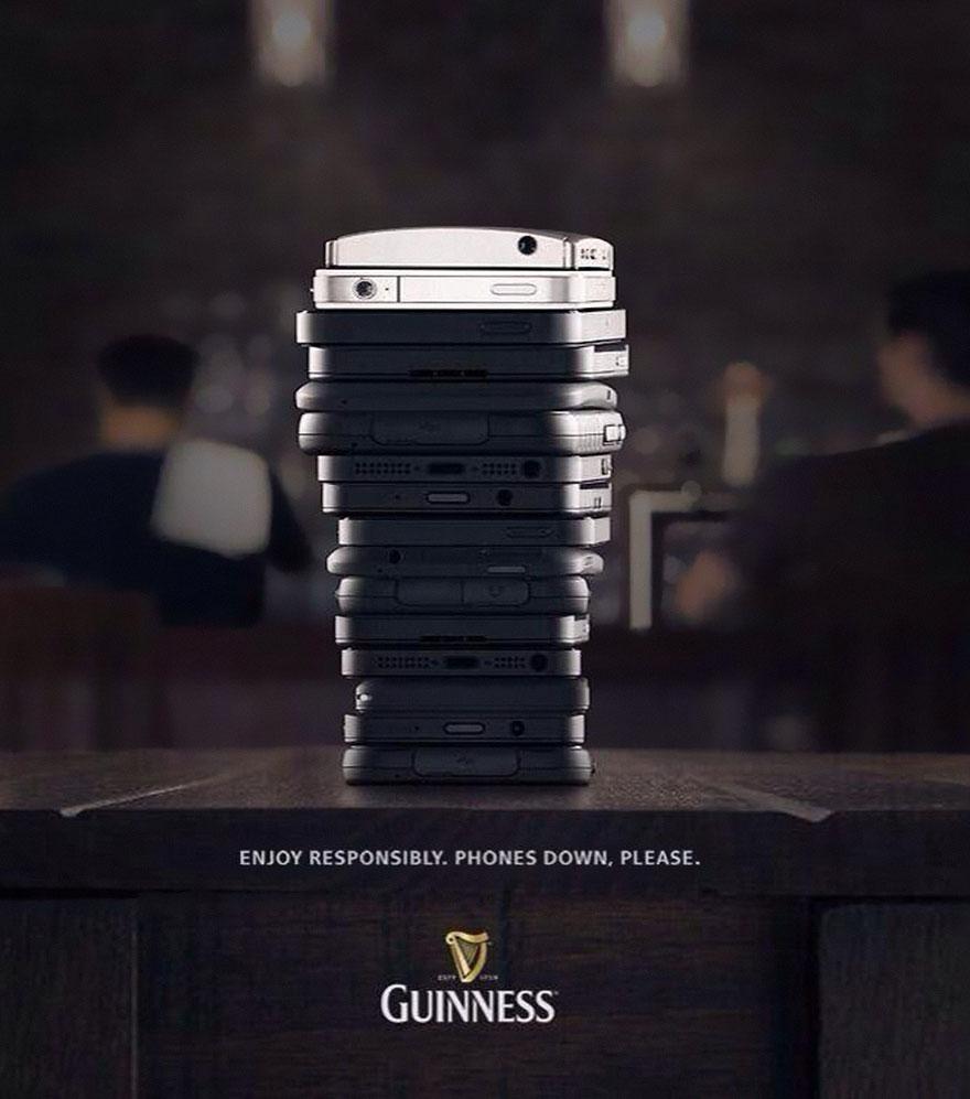 گینس تبلیغات موبایل لحظه آرامش