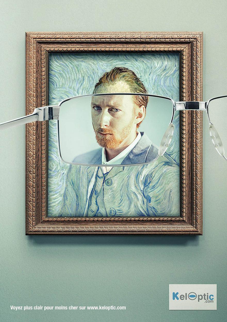 ون گوگ عینک طبی تبلیغات