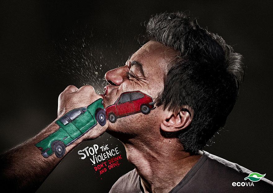 مبارزه خشونت تصادف مشت تبلیغات