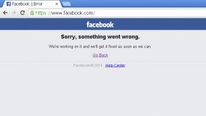 سرور فیس بوک مشکل پیدا کرد